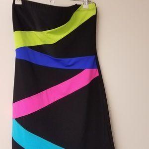 Strapless Spandex Party Dress M